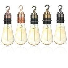 Lowest Price E27/E26 Fine Copper Vintage Retro Edison Light Lamp Bulb Fitting Holder Hook Socket Shade Ring 110-220V