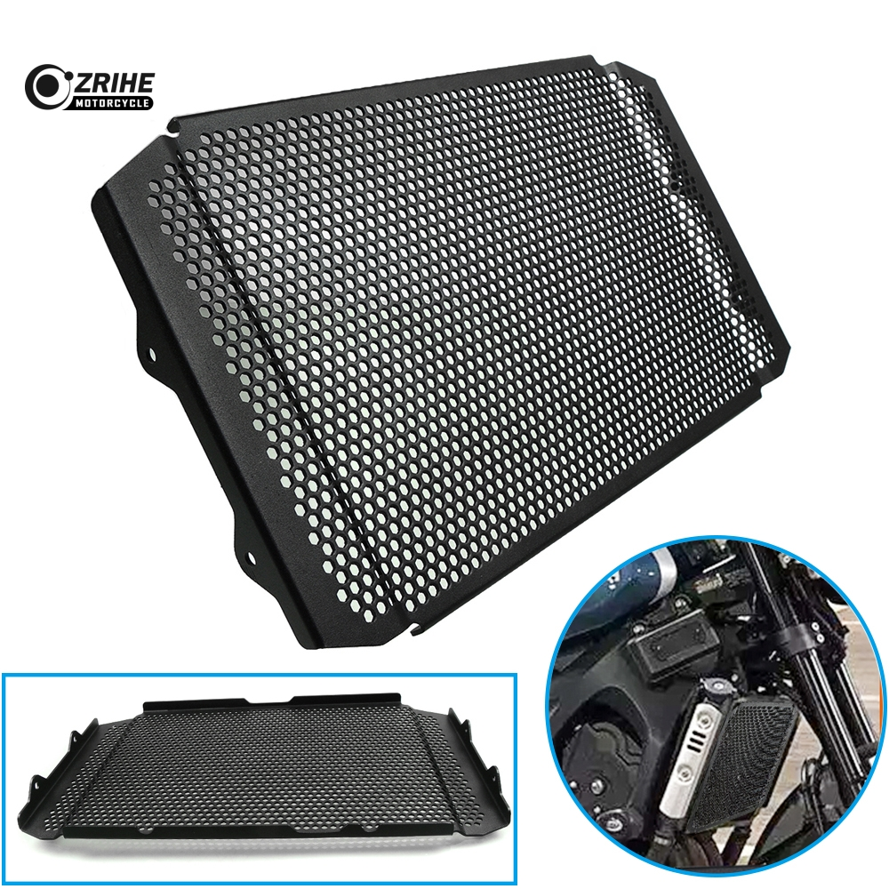 CNC Motorcycle Parts Aluminium Black xsr900 Radiator Side Guard Grill Grille Cover Protector For Yamaha XSR