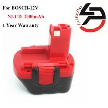 ¡ Caliente! Reemplazo de alta calidad 2000 mAh 12 V NI-CD Batería para Herramientas Eléctricas Bosch: BAT120, 26073 35415, BAT139, 26073 35463, BAT046