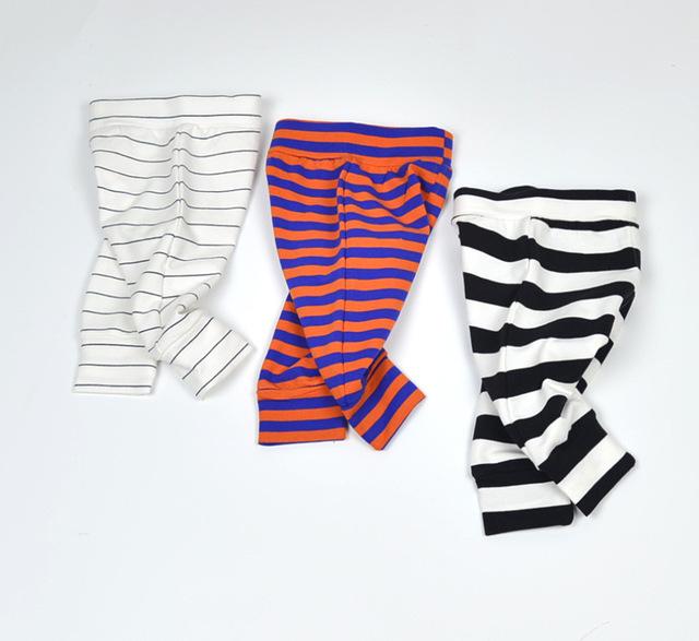 2016 Pantalones Infantiles 0-2Yrs Muchachas de Los Bebés de rayas Pantalones harén Moda de Nueva Ropa Del Bebé Pantalones Otoño Primavera de Algodón de Las Bragas