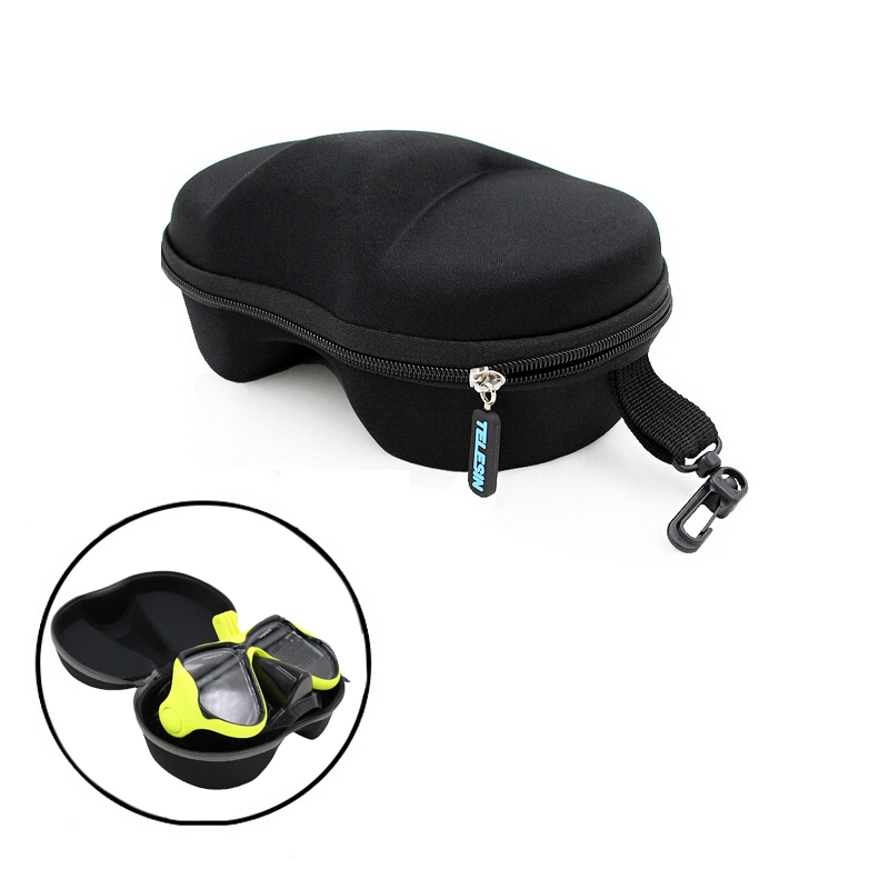 Telesin Storage Box Case For Go pro Xiaomi Yi Action Camera Diving Mask Swimming Scuba Glasses Protective Box Storage Bag Case