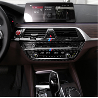 Carbon Fiber Interior Trim Air conditioning CD Control Panel Cover Trim Car Styling Stickers For BMW G30 G38 6GT Car Accessories