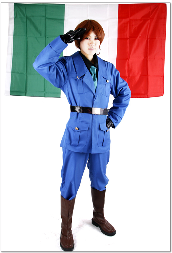 Free Shipping Axis Powers Hetalia Italia del Nord Feliciano Vargas Uniform Anime Cosplay Costume