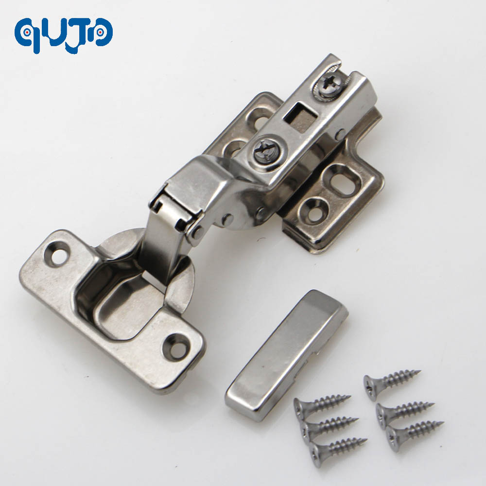 inset hinge 304 Stainless steel Embed Hydraulic furniture hinge conceal adjustable inset kitchen cabinet hinges 2pcs set stainless steel 90 degree self closing cabinet closet door hinges home roomfurniture hardware accessories supply