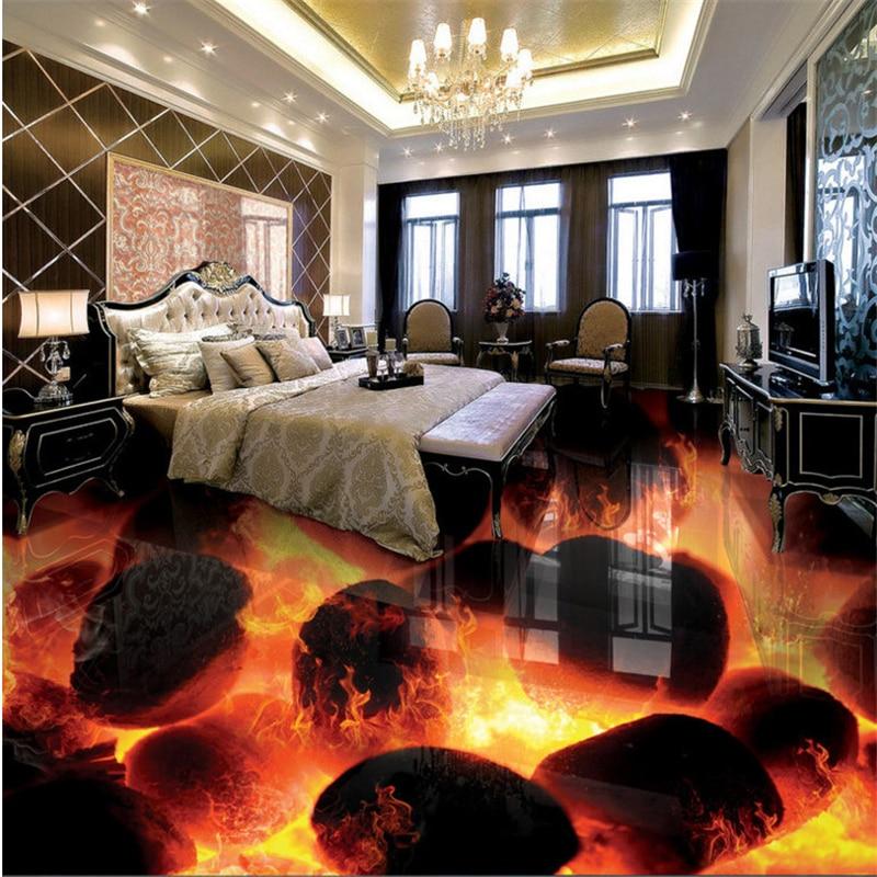 beibehang benutzerdefinierte vliesstoffe tapete stein brennenden feuer 3d stereo badezimmer wohnzimmer bodenfliesen malereichina