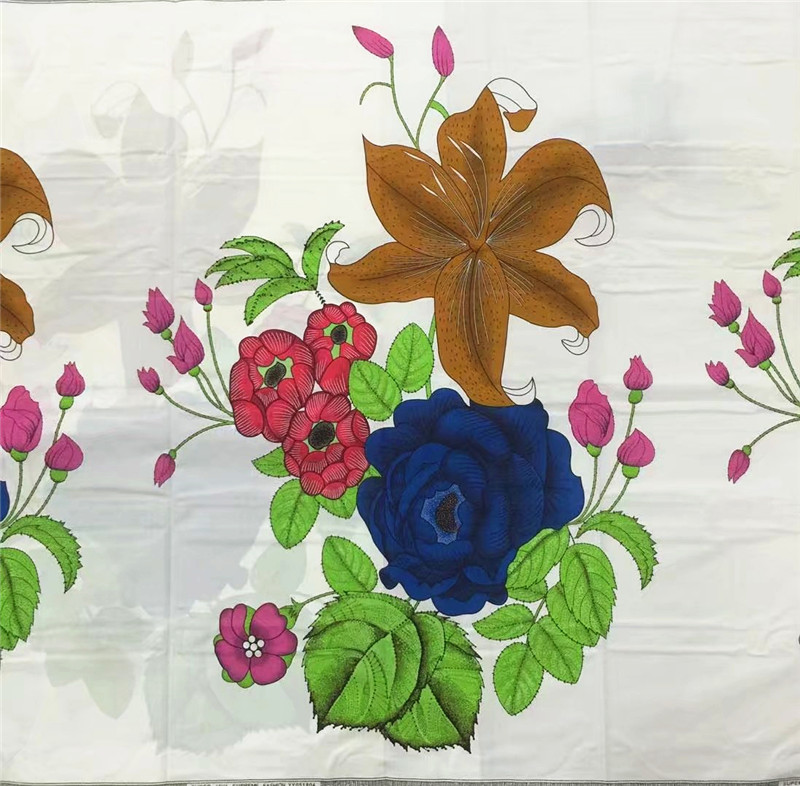 flower fabric Last african