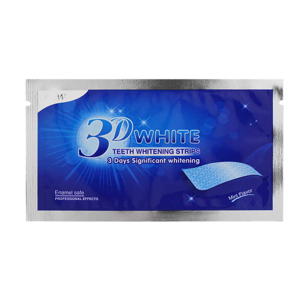 1 PC 3D Gigi Whitening Strip Gigi Gigi Whitening Cleaning Ganda Elastis Gel Strip Gigi Whitening Alat