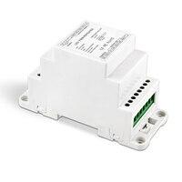 Neue Led Power Repeater DIN Schiene DC5V 12 v 24 v eingang Led DMX Verstärker 4CH ausgang Signal Verstärker Power repeater BC-964-DIN