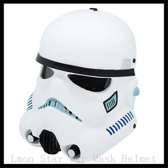 Top Grade nouveau masque Halloween casque Star Wars Trooper soldats blancs Empire guerrier dark vador masque COS masque casque de soldats