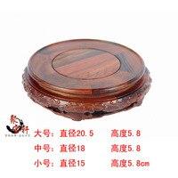 Палисандр резьба Аннато ремесленных круглое основание из натурального дерева Будды камень рекомендуется ваза предметы мебели