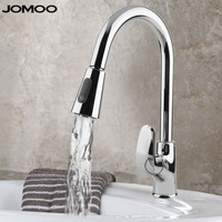 JOMOO 360 Degree Swivel Mixer Tap Hot Cold Kitchen Sink Faucet Extendable Silicon Bass Water Tap