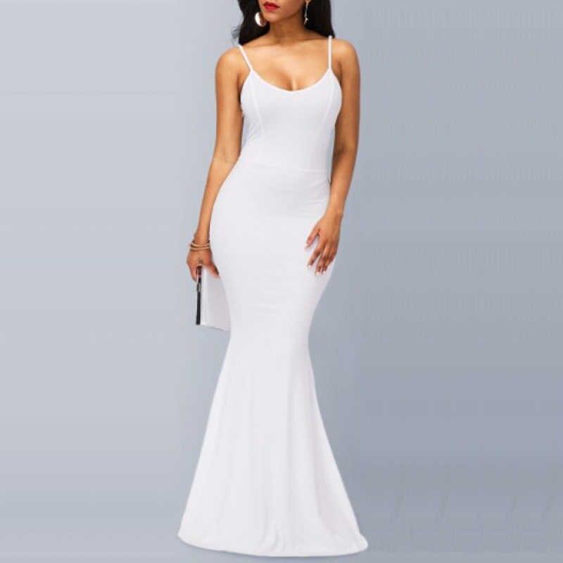 Наивный блеск Для женщин элегантные Платья для вечеринок Чолак рукав платье-футляр облегающее летнее красный, черный и белый длинный Maxi Dress Vestidos mujer