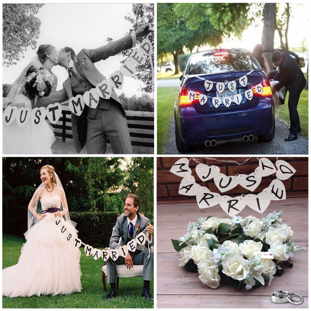 Photo Booth Wedding Ceremony Just Married Banner Set Of 11 Pieces 2016 Reception Party Supply PhotoBooth Props In Photobooth From