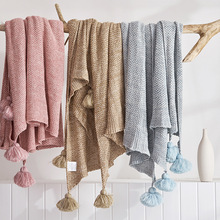 Knitted Blanket Bed Banket 100% Cotton Super Soft on the bed / Sofa Cover 130X170cm Thread Free shipping