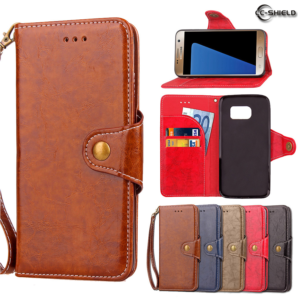 Flip Case for Samsung Galaxy S7 S 7 7S G930 G930F G930FD G930U Wax Oil Business Leather Cover Phone Case SM-G930F SM-G930FD Capa