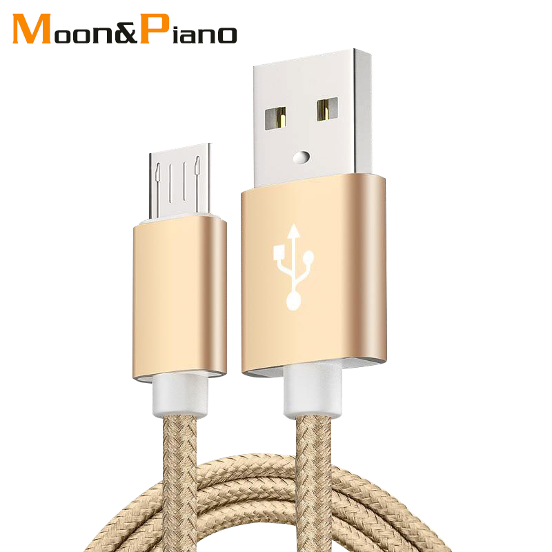 1m 1.5m 2m 5V2A Nylon Data Cable Fast Micro USB Charging For Transmission Cables Android Type-c iOS System Mobile Phone