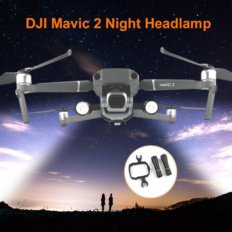 Mavic 2 Pro/Zoom Flash LED Filght Light Lamp Kit For DJI Mavic 2 Night Flight Searching Lighting Drone Accessories