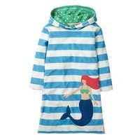 Mètres de saut bébé filles robe à capuche avec des animaux Appliques coton enfants robe pour fille vêtements enfant en bas âge robes Costume de princesse