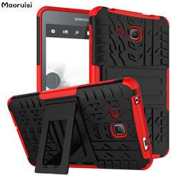 Для samsung Galaxy Tab 4 7.0T230 T235 чехол для планшета Denfender Прочный ТПУ + PC Гибридный Броня Dazzle противоударный Kistand крышка протектор