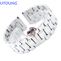 High Quality Stainless Steel Watchband Mens Womens Watch Strap Fine Steel Buckle Brand Special