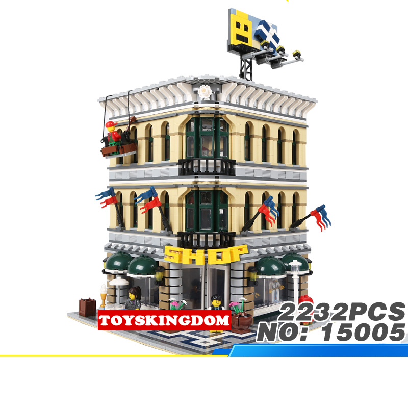 Creator city street view Department store shop building block model figures bricks 10211 toys collection for children gifts decool 3114 city creator 3in1 vehicle transporter building block 264pcs diy educational toys for children compatible legoe