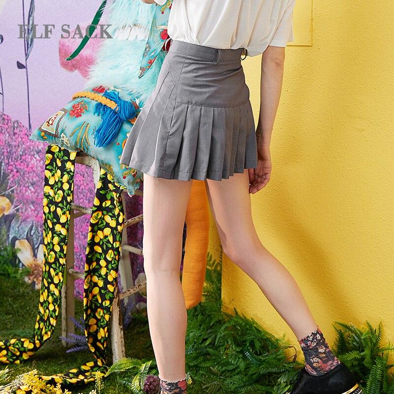 Delgada Preppy Mujer Faldas Sólida Streetwear Saco Verano De Señoras Cintura Estilo Bikini Plaid Línea Mediados Casual Elf qwXIt7TBq