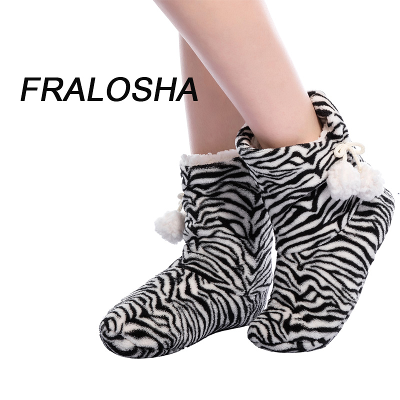 Fralosha New Winter Plush Slippers Women Home Slippers Fashion  plush warm indoor Slippers For Home Shoes Hot Sale men winter soft slippers plush male home shoes indoor man warm slippers shoes
