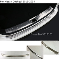 Car body protect Rear inner Bumper outside tailgate pedal Strip trim plate lamp threshold For Nissan Qashqai 2016 2017 2018