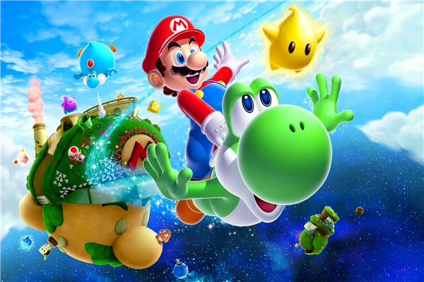 Mario Bros Muurstickers.Custom Canvas Art Super Mario Poster Super Mario Galaxy Muurstickers