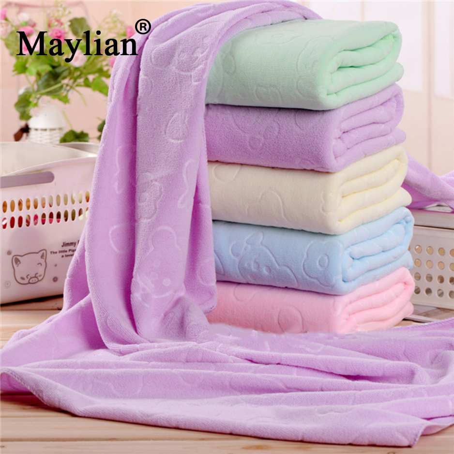 hand towel bathroom accessories cotton bath bear printed towels spa hotel adult large universal quick dry bath cloth T12
