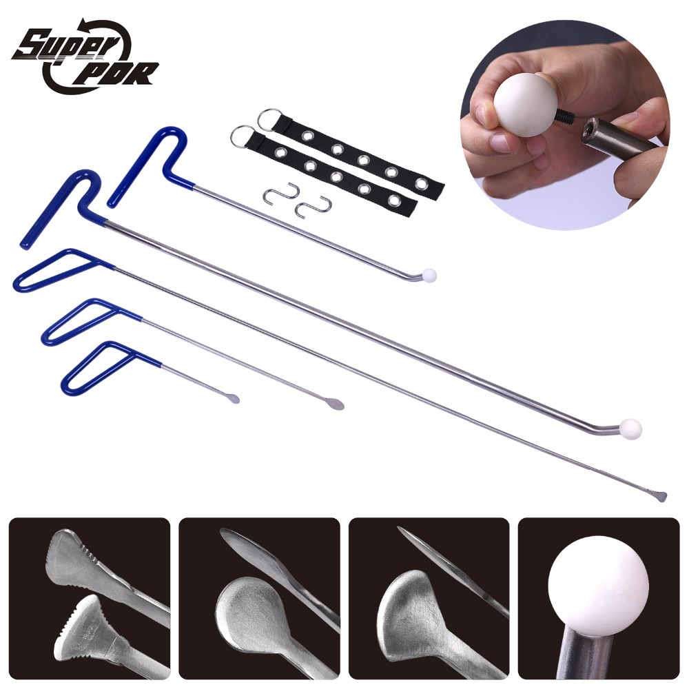 Newest Design PDR Rods Hooks Tools 4pcs Repair Car Tool Paintless Dent Repair Dent Removal Rods