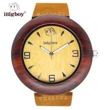 IBigboy Relojes de Madera De Madera de Sándalo de Palo de rosa Relojes de Los Hombres Reloj de Las Mujeres IB-1603Da