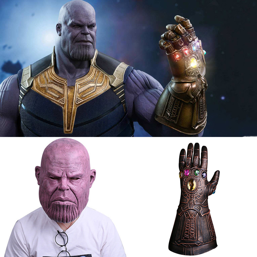 Avengers Infinity War Cosplay Thanos Glove Mask Cosplay Halloween Party