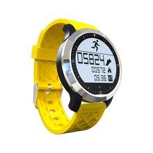 F69 Wasserdichte Bluetooth Smart Uhr Schwimmen IP68 für iPhone und Android Smartphone Smartwatch pulsmesser display