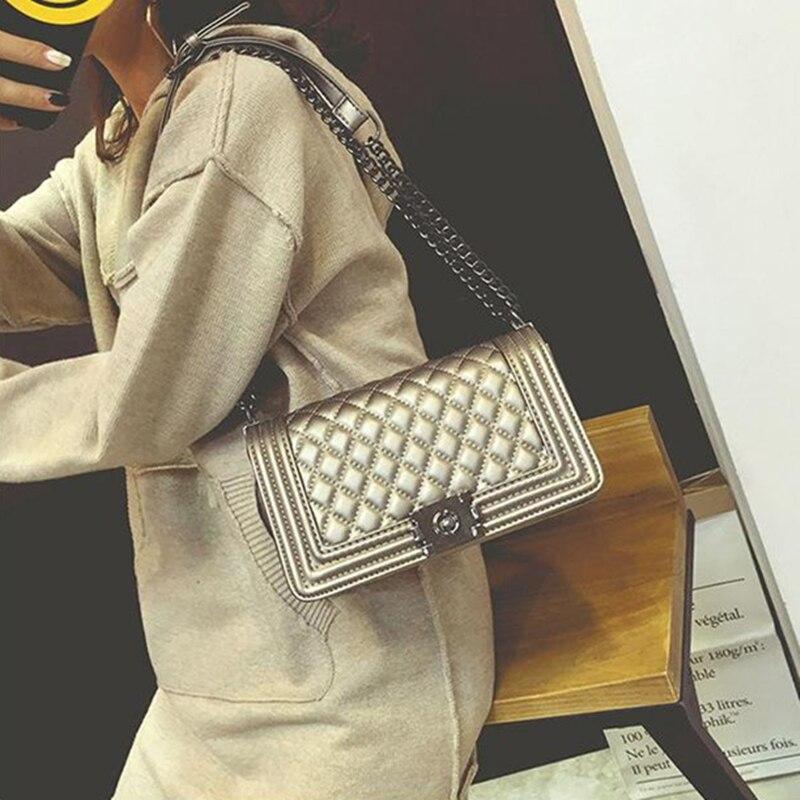 все цены на Luxury Handbags Women Bags Designer Chain Bag PU Leather Small Crossbody Bags For Women Messenger Bags bolsa feminina Channels