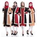 Женщины Мода Новые Мусульманские Платья с Длинными Рукавами Белье Длинное Платье Исламская Мусульманская Одежда 4 Цвета