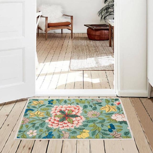 Anti slip Oriental Floral Kitchen Floor Mat Welcome Entrance Doormat ...