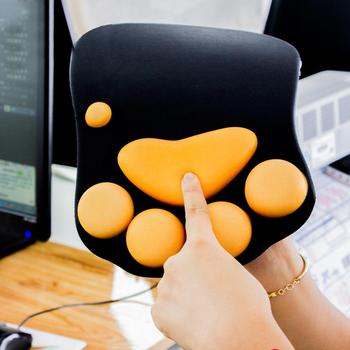 Cute 3D Cat Paw Anti-Slip Soft PC Laptop Computer Office Wrist Rest Support Comfort Gaming Silicone Mouse Pad Mice Mat Office & School Supplies