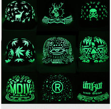 Fashion Graffiti Baseball Cap Hip Hop Snapback Caps Fluorescent Light For Men Women Girl Noctilucence Caps Boy Light Hat Gorras