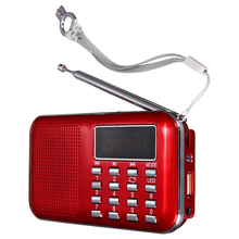 Mini Radyo FM Portatil Dijital Hoparlör USB Mikro SD TF Kart Mp3 Müzik Lettore