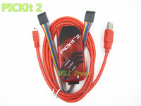 Free Shipping PICKIT2 PIC Kit2 Simulator PICKit 2 Programmer Emluator Red Color WUSB Cable Dupond Wire