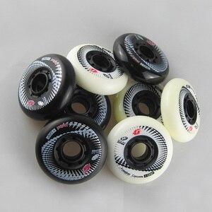 Image 5 - 80mm 84A Rollers for Inline Skates Hyper +G Slalom Slide Skates Wheels for Kids Adult Patins Suit for SEBA Powerslide Shoes LZ36