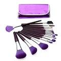 Profesional 16 UNIDS Púrpura Fundación Eyeshadow Cosméticos Pinceles de Maquillaje Kit Set Herramientas de maquillaje Cosmético del artículo de Tocador Kit de Herramientas
