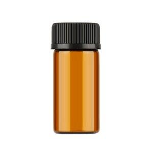 Image 3 - Aihogard 10 pz/lotto 1 ml/2 ml/3 ml Mini Ambra di Olio Essenziale di Vetro Reagenti Riutilizzabile Bottiglia Campione marrone Fiale di Vetro Con Tappo