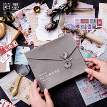 Retro Decorative Sticker DIY Scrapbooking Decoration Card Envelope Tag Stationery Set Manual Material Package