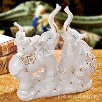 House Ceramics elephant creative ceramic ornaments of modern home accessories home decoration enjoyable three