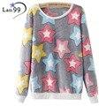 Cute Star Print Hoodies 2016 Winter Warm Flannel Hoodies Sweatshirts Harajuku Christmas Pullover Hoody Casual Tracksuits Hoodies