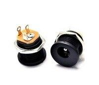 100x DC Power Jack Socket DC 022 2.5 x 5.5 mm with Screw Nut DIY 180 Degree New|socket dc|socket power|socket jack -