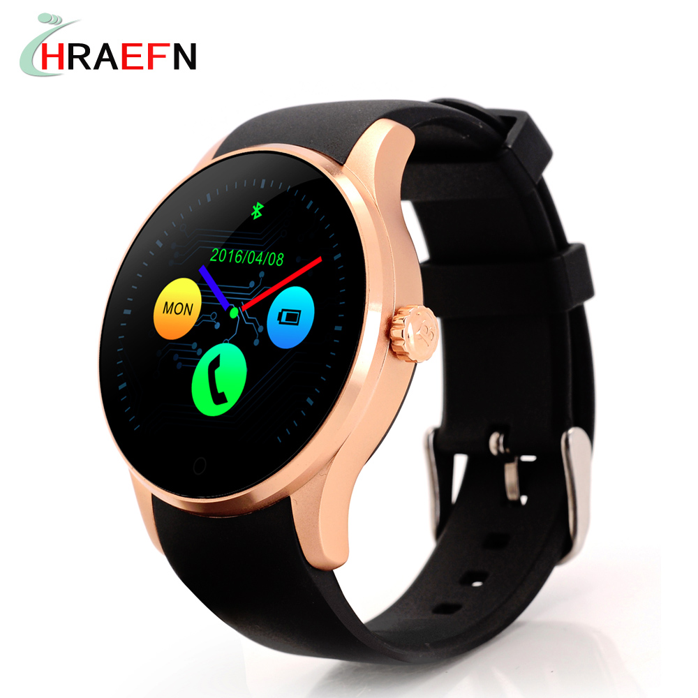 Hraefn Bluetooth Smart Watch K88S Round Full View IPS Smartwatch Heart Rate Monitor Wristwatch for IOS Android Support SIM Card gs8 1 3 inch bluetooth smart watch sport wristwatch with gps heart rate monitor pedometer support sim card for ios android phone
