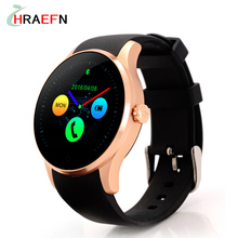Hraefn Bluetooth Smart Watch K88S Round Full View IPS Smartwatch Heart Rate Monitor Wristwatch for IOS Android Support SIM Card